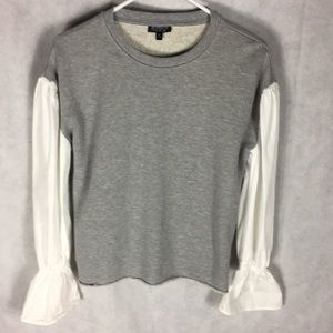 Topshop sweatshirt with blouse arms size small